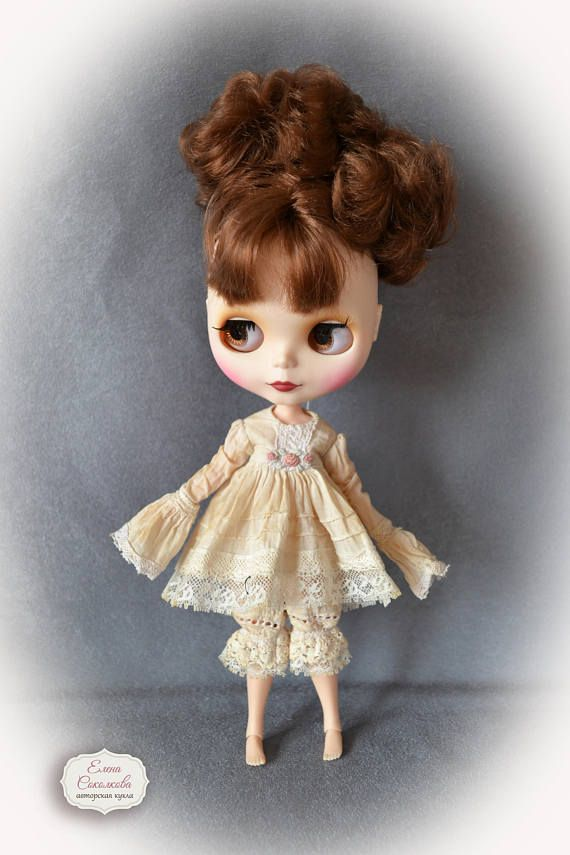 Vintage set for Blythe. for Blythe/Pullip  dolls clothes.Dress
