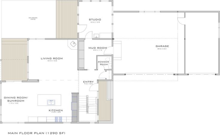Modern style house plan 3 beds 2 5 baths 2777 sq ft plan for Modular homes with basement floor plans