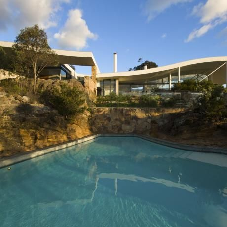 Seidler House, Southern Highlands. Harry Seidler house and pool.