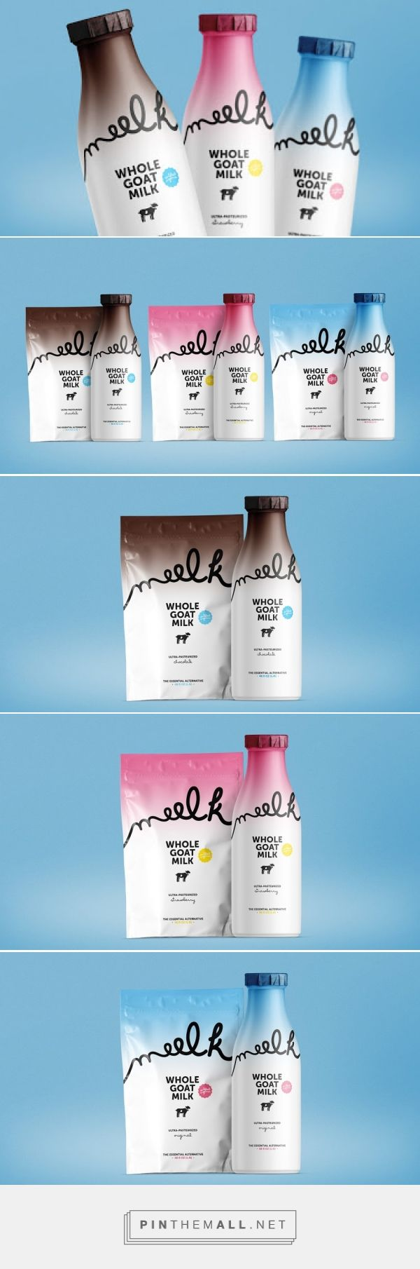 Like the gradient background - Meelk - Whole Goat Milk (Concept) on Packaging of the World - Creative Package Design Gallery - created via https://pinthemall.net