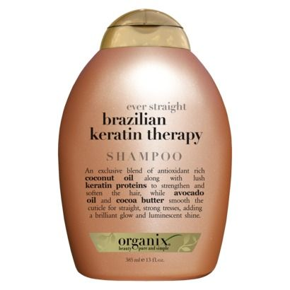 organix ever straight brazilian keratin therapy shampoo (recommended for hair that's frizzy, wavy, curly, and colored)