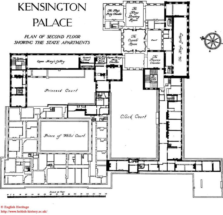 Kensington palace interior apartment 1a kensington palace for Apartment design map