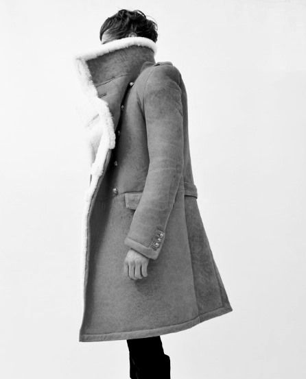 Oversized Men's Shearling Coat | Luxury Menswear