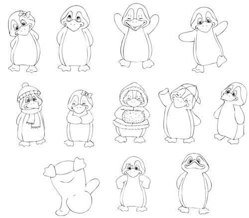 ber ideen zu pinguin zeichnen auf pinterest