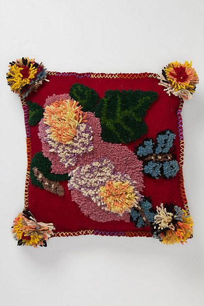 Tufted Double Bloom Pillow #anthropologie