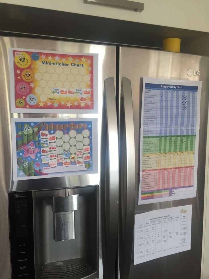 Kids reward charts and chores/ pocketmoney chart