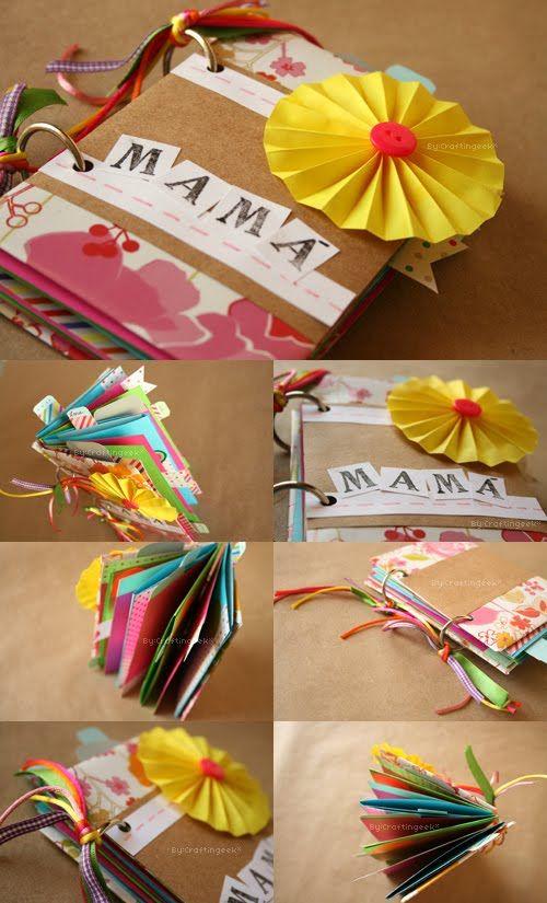Craftingeek album scrapbook facil dia de las madres - Como hacer un album scrapbook ...