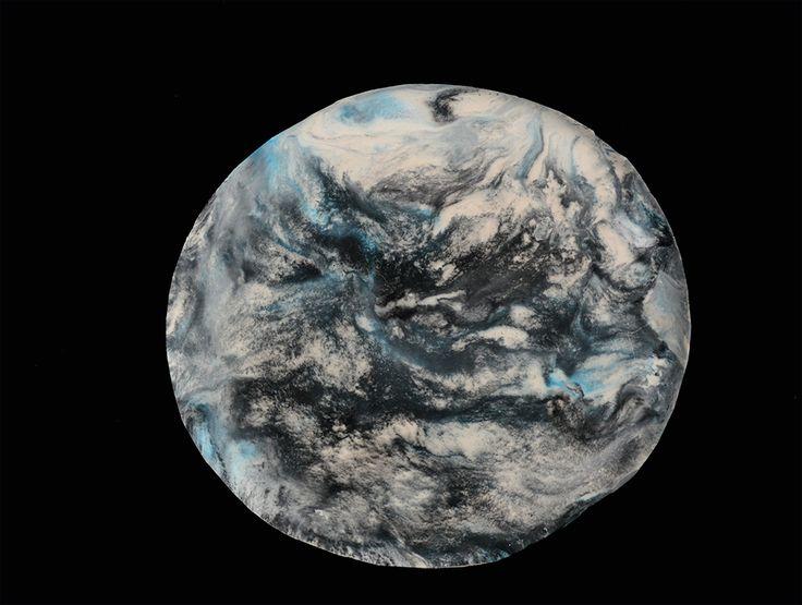 Cloudy Earth Wall Piece