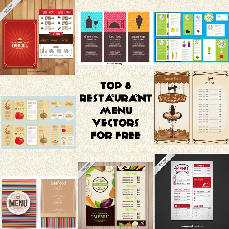 Today I'm gonna share my list of Vector Design of Restaurant Menu that you can download for free.