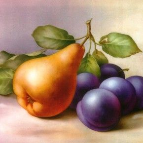 China Paints Pear and Plums by San Do