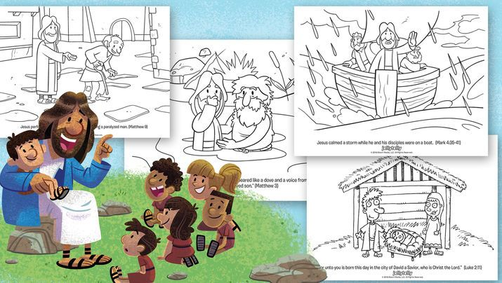 Free Jesus Coloring Book | JellyTelly Parents