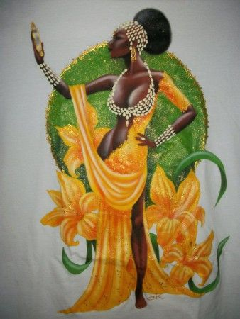 Oshun(Brazil)  reigns over love, intimacy, beauty, wealth and diplomacy, beneficent, generous and very kind. She does, however, have a horrific temper, one which she seldom ever loses. When she does, it causes untold destruction.