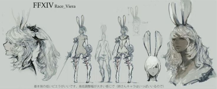 FFXIV race Viera concept art