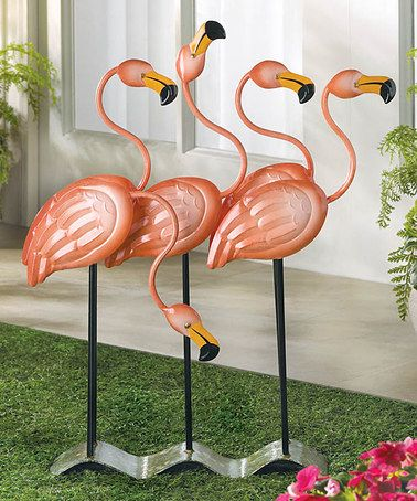 Look what I found on #zulily! Flamingo Garden Décor by Zingz & Thingz #zulilyfinds