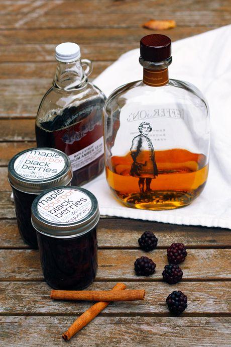 Maple Bourbon Blackberries