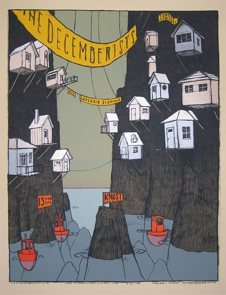 Wall art - collection of 6 - GigPosters.com - Decemberists, The - Lavender Diamond