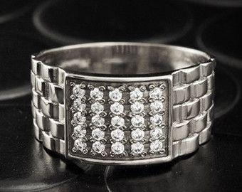 Cruz anillo de sello plata anillo sello rojo anillo por MasterRings