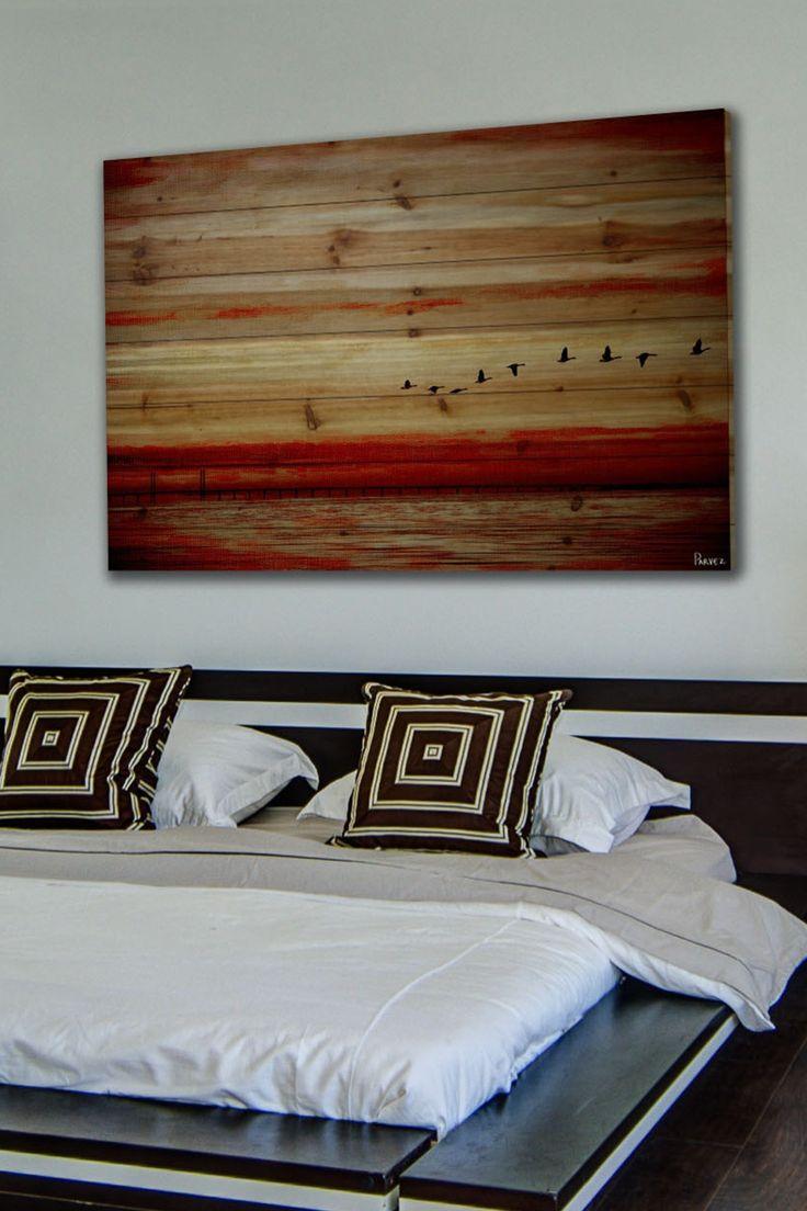 Flying South Natural Pine Wood Wall Art