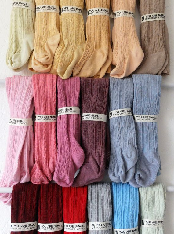 6-12 MONTHS HAND DYED baby tights in a range of by YouAreSmall