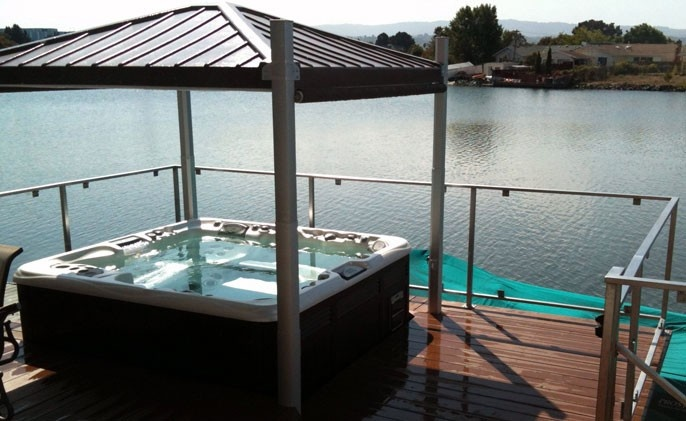 Hot Tub Cover Outdoor Living Pinterest
