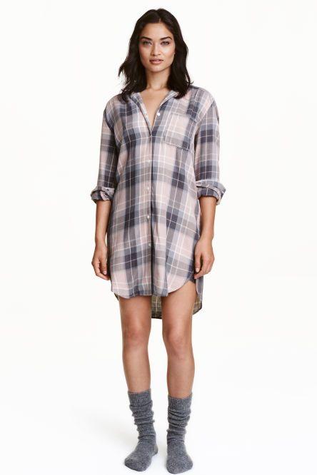 Фланелевая ночная рубашка