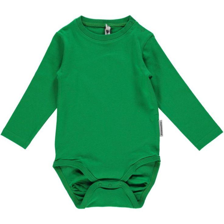 Maxomorra Grass Green Long Sleeved Bodysuit