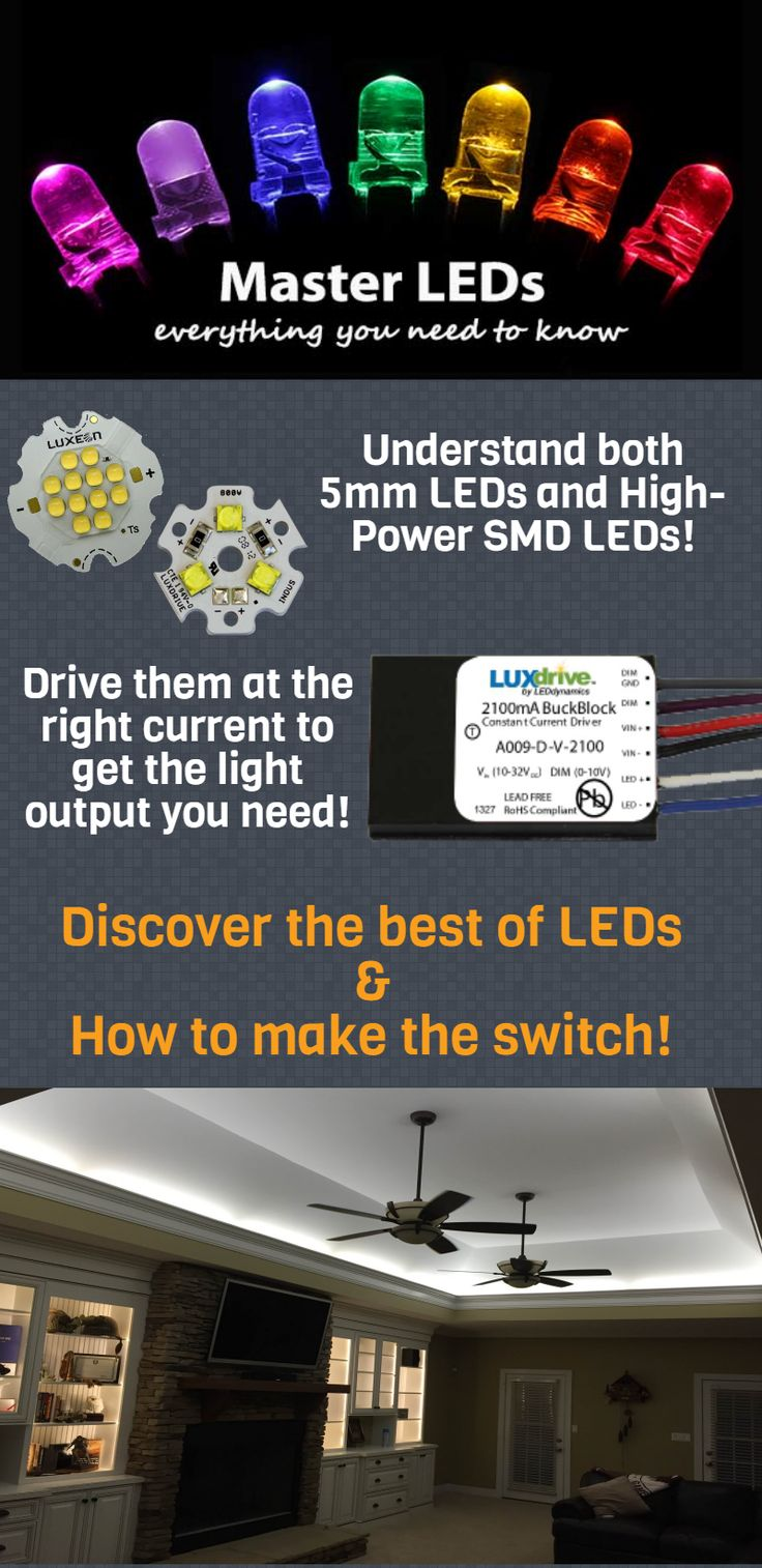Everything you need to know about LEDs: Check out all the advantages of LEDs and what you need to know when setting up your own LED lighting!