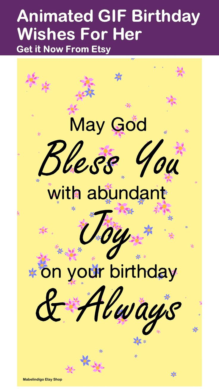 Animated ecard christian happy birthday wishes with pastel