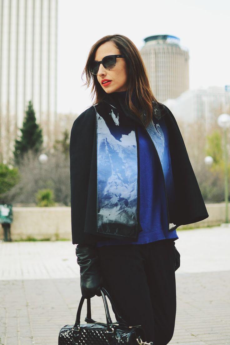 Trendy Cape Top Fashion Looks With Jeans Idea: Silvia Rodriguez - Madrid /kissmylook