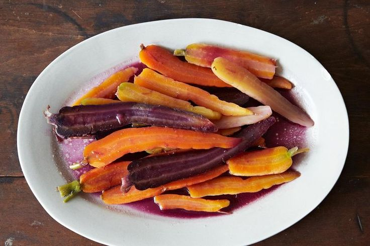 Alice Waters' Colorful Carrots with Butter and Honey (Scroll to Bottom for Link to Full Recipe)