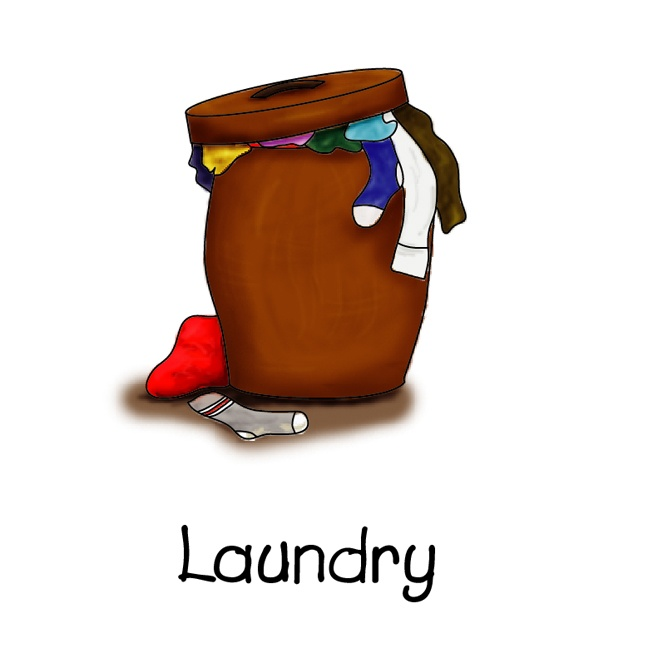 Clothes in hamper | Chore chart clipart | Pinterest ...