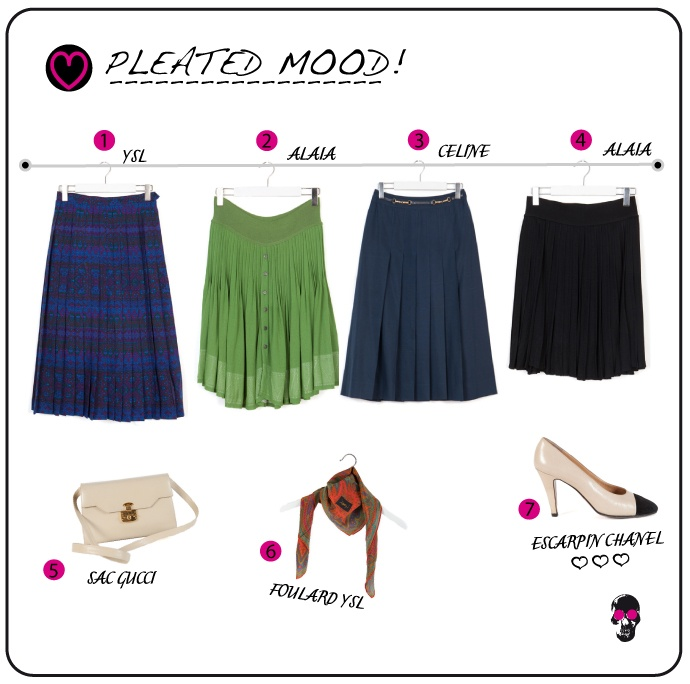 pleated skirt on dressing-factory