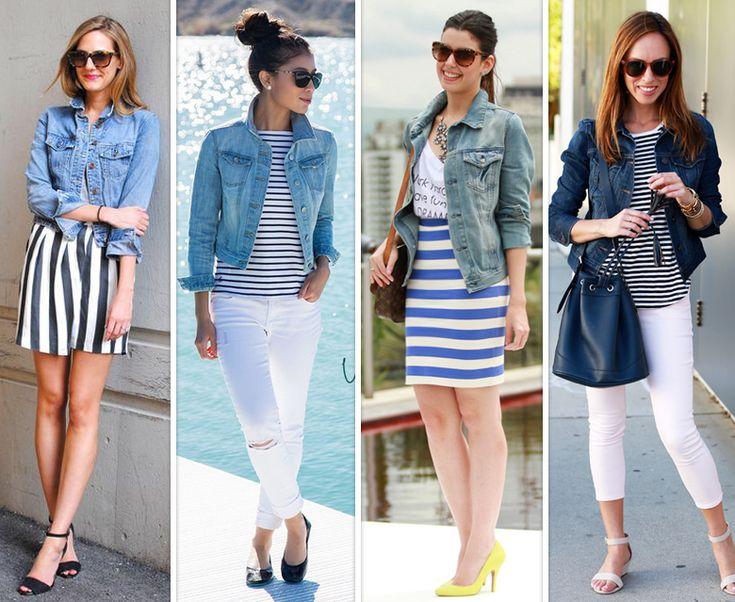 Looks estilosos de verão com jaqueta jeans