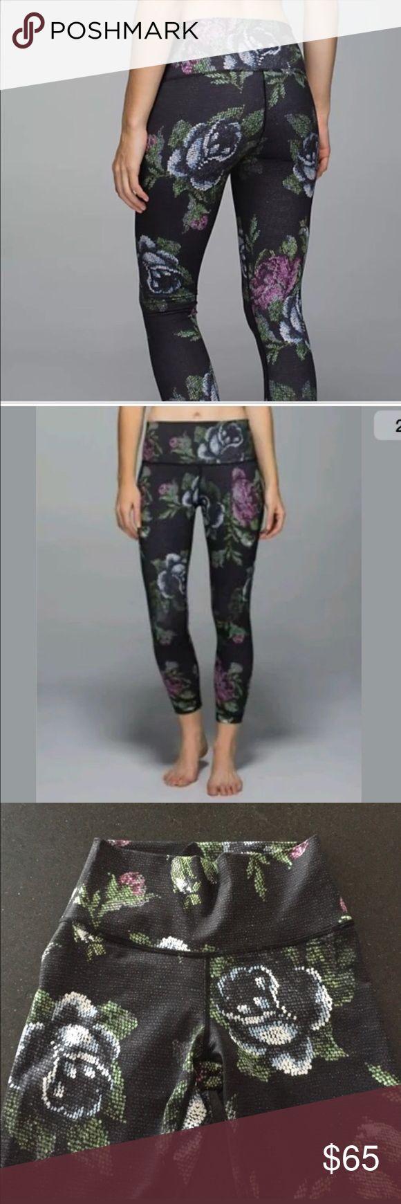 Floral print lululemon leggings Floral print lululemon leggings lululemon athletica Pants Leggings