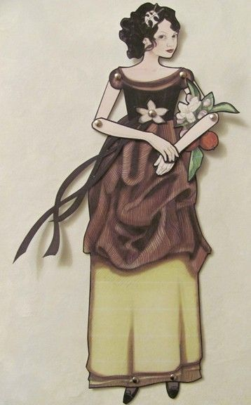 """Snow White Jointed Paper Doll 12"""". $7.50, via Etsy."""