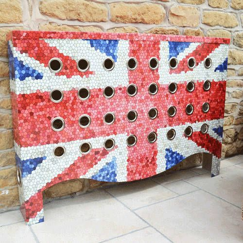 Warehouse Union Jack Mosaic for a conservatory in Leicestershire (From Modern Radiator Covers and Window Shutters)