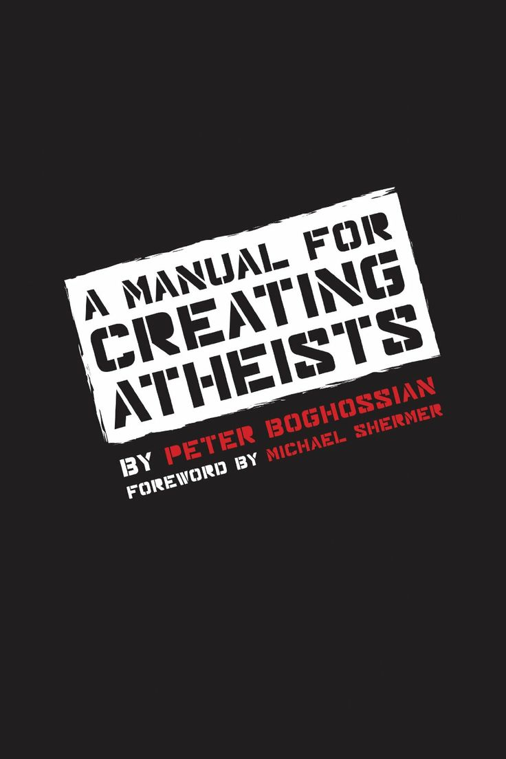 A Manual for Creating Atheists  ($9.67) http://www.amazon.com/exec/obidos/ASIN/B00GBBAP9I/hpb2-20/ASIN/B00GBBAP9I I highly suggest this book to anyone that is even remotely interesting in understanding why people think the way they do. - One of the first impressions I got reading this book was that the author did years of research in writing it. - The book is rich in content and extremely well-resourced, with extensive information regarding further reading on the subject.