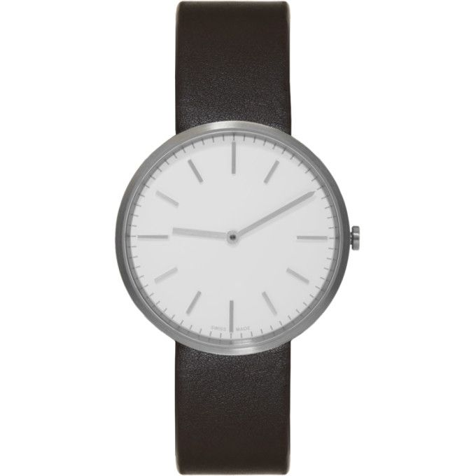 UNIFORM WARES Silver & Brown Leather M37 Two-Hand Watch. #uniformwares #
