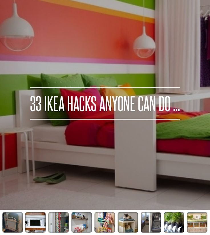 33 Ikea #Hacks Anyone Can do ... → DIY #Products