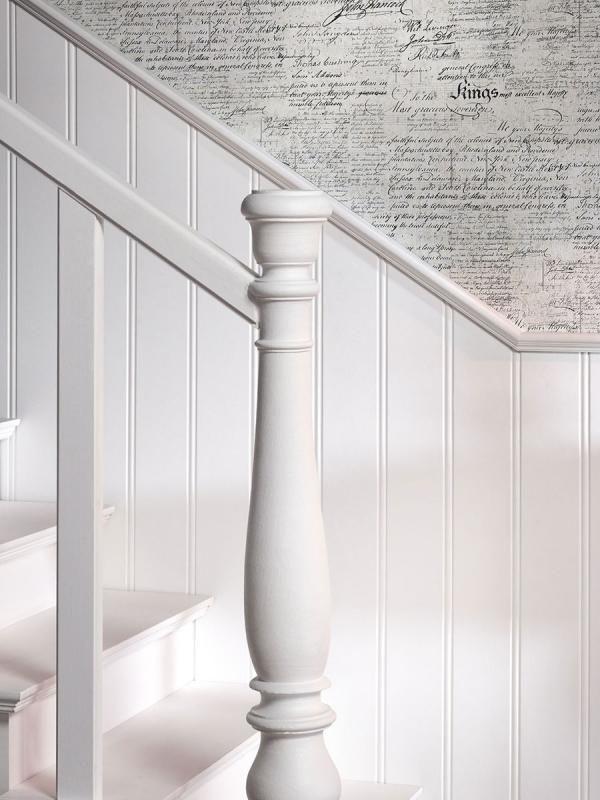 Lambrisering ipv witte tegeltjes in de hal (niet in de badkamers)