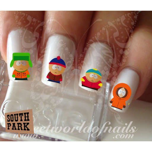 South Park Nail Art Eric Kenny Kyle Stan Nail Water Decals Wraps
