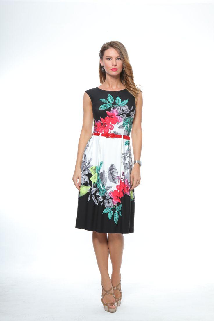 Rochie cu imprimeu flori