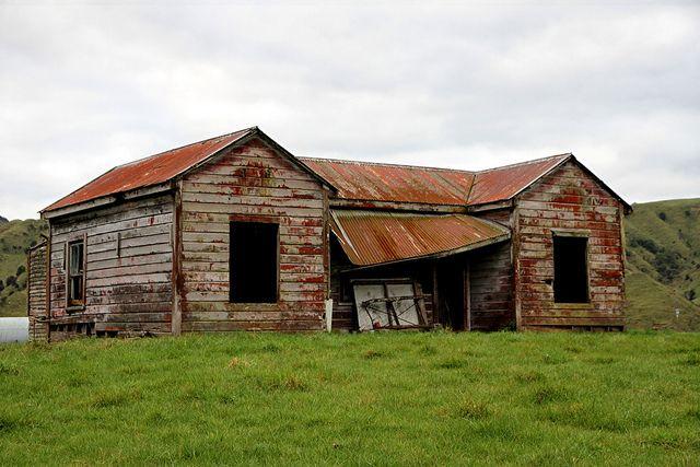 Old house, Kaitieke, Manawatu - Whanganui, New Zealand