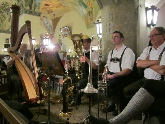 Bavarian oompah band at Hofbrauhaus