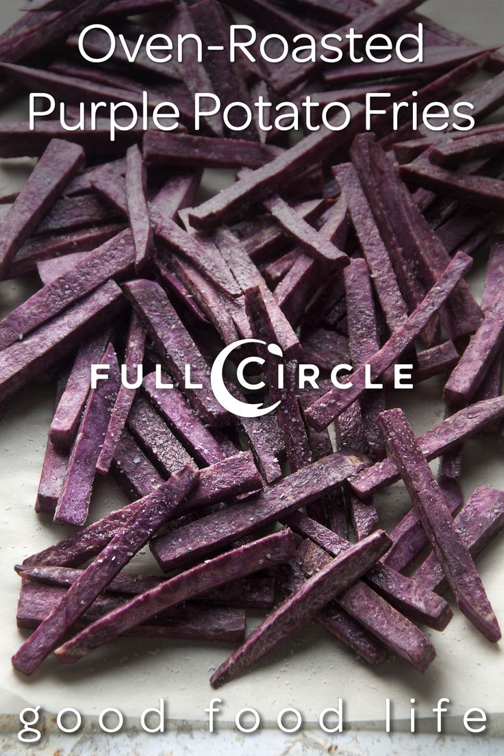 Oven-Roasted Purple Potato Fries