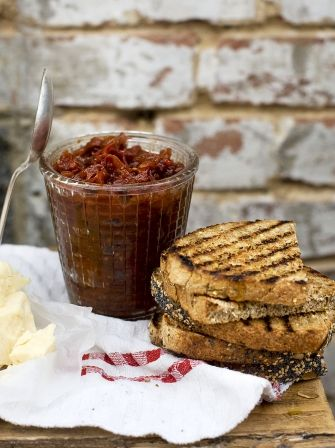 Discover this easy tomato chutney recipe, the perfect way to compliment a piece of hard cheese; try Jamie's recipe today and preserve the taste of summer.