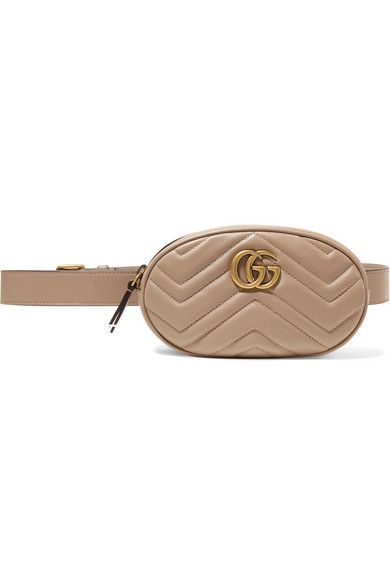 69de0fcee8a26b Gucci - Gg Marmont Quilted Leather Belt Bag - Neutral in 2019 ...