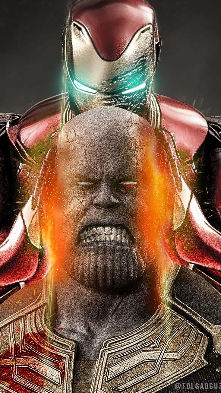 Thanos Vs Iron Man Avengers Endgame Iphone Wallpaper Iron Man