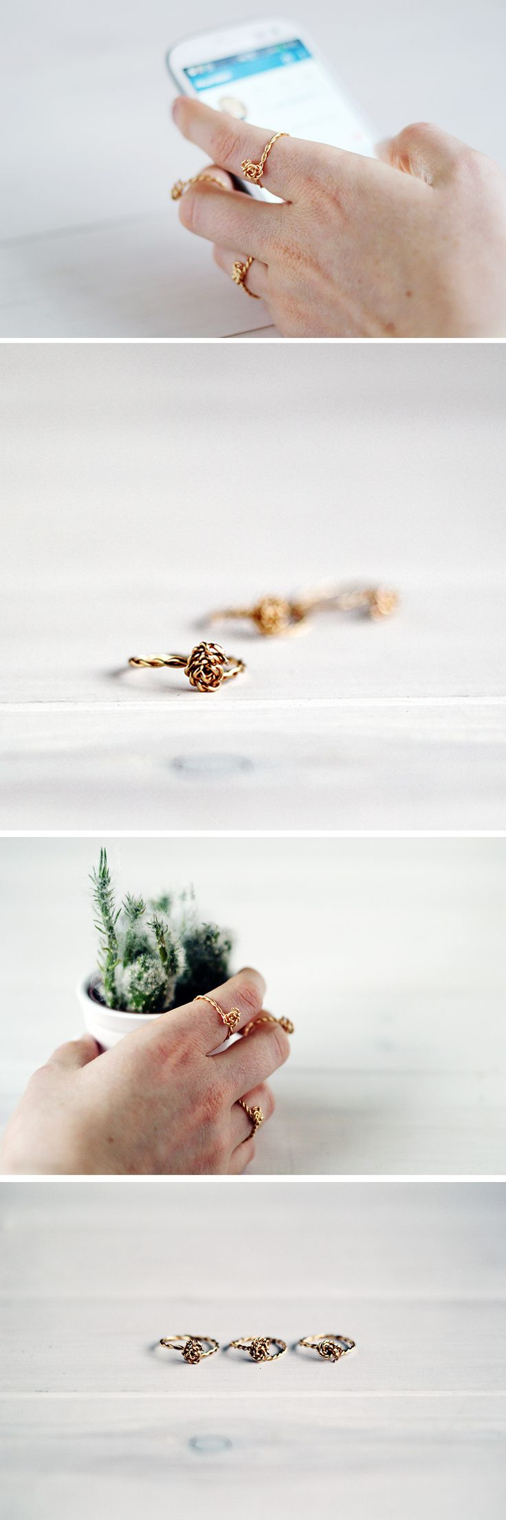 Twisted Wire Rings tutorials Fall For DIY