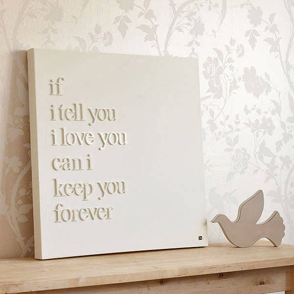 raised letters on canvas - Personalised 'If I Tell You' Canvas